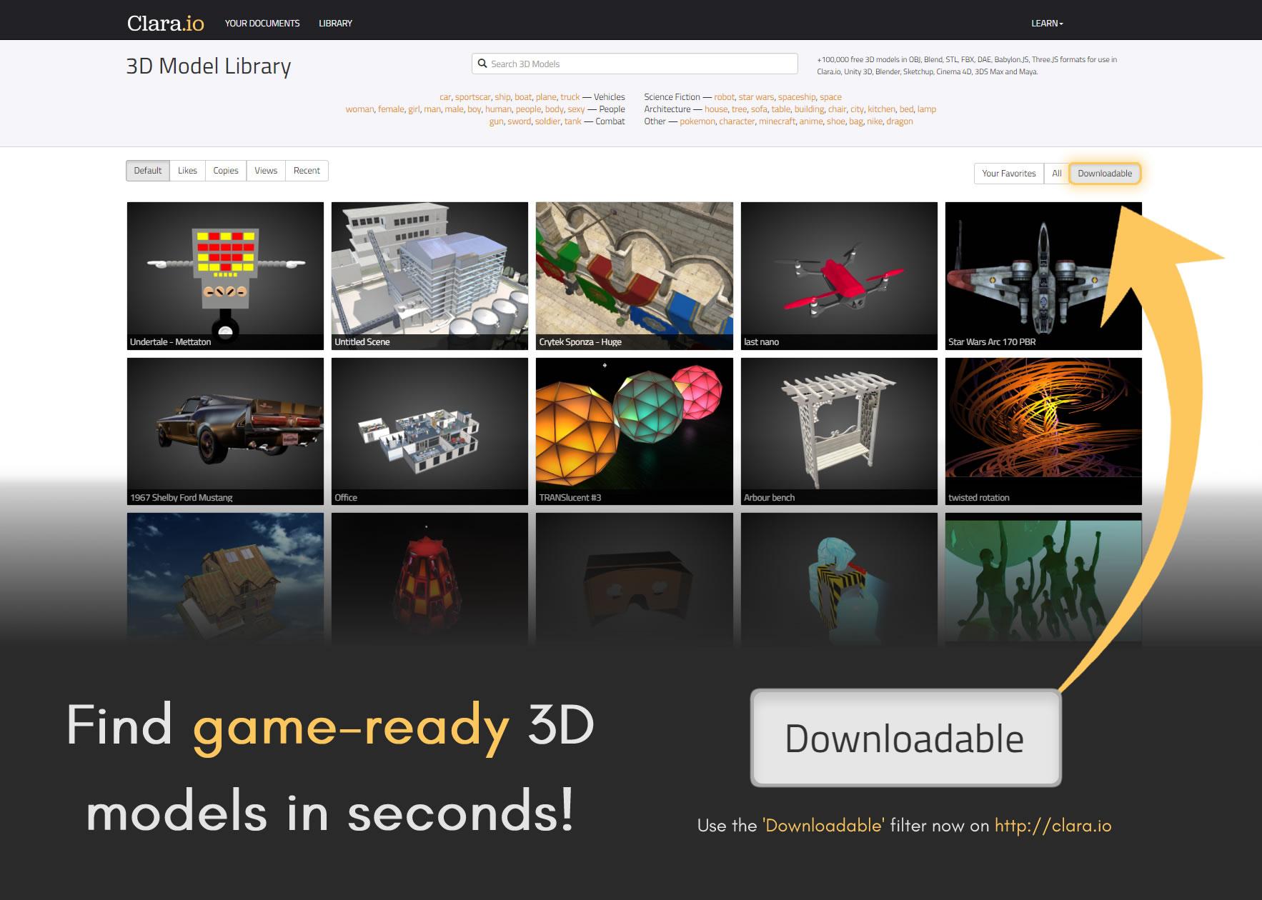 Clara io – Best free 3D animation software – Just Make Animation
