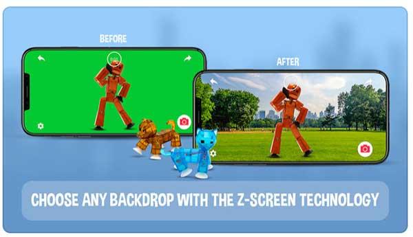 StickBot stop motion app