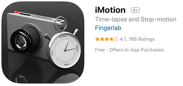 iMotion stop motion app