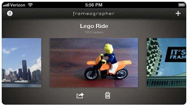 Frameographer stop motion app