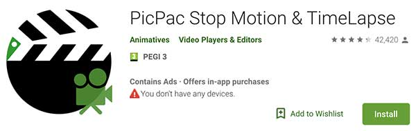 PicPac stop motion app