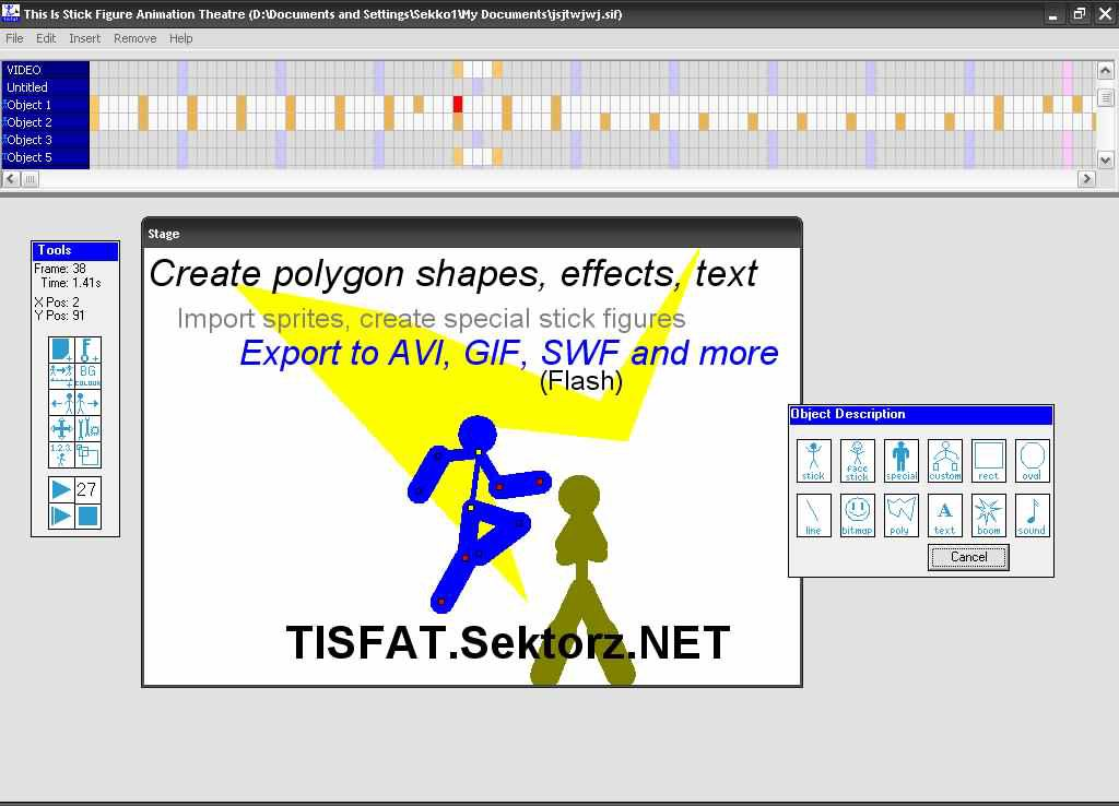 Free Stick Figure Animator - TISFAT